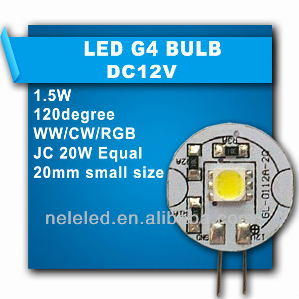 20mm Small Size G4 Led Halogen Replacement