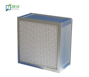Aluminum frame High Efficiency H13 HEPA Box Air Filter For HVAC System
