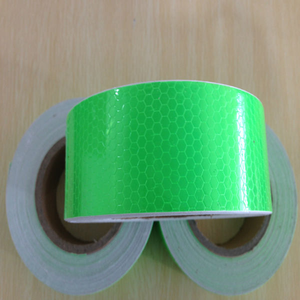 Fluorescent Green color PVC adhesive reflective tapes for safety warning