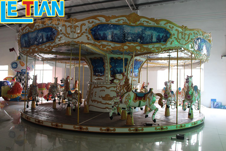 China Made 26 seats Large Carousel Horse Ride Amusement Park Equipment Merry go Round Price