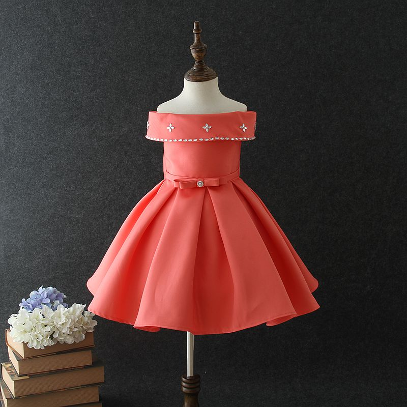 7243ff67a6dbe 2018 Hot Vietnam baby girl party dress children frocks designs stain cotton  kids wedding dresses for 4 years old. Hot sale products