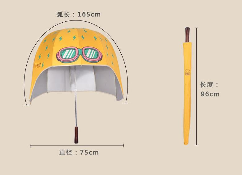 Wholesale Price with Stock and Small order Lovely creativity cartoon Helmet hat umbrella with UV protection