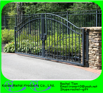 Steel Modern Main Gate Designs For Homes / Garden Arch Wrought Iron Gate Part 47