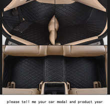 for mercedes benz ml firm pu leather Wear-resisting Car floor mats black grey Non-slip custom made waterproof car floor Carpets