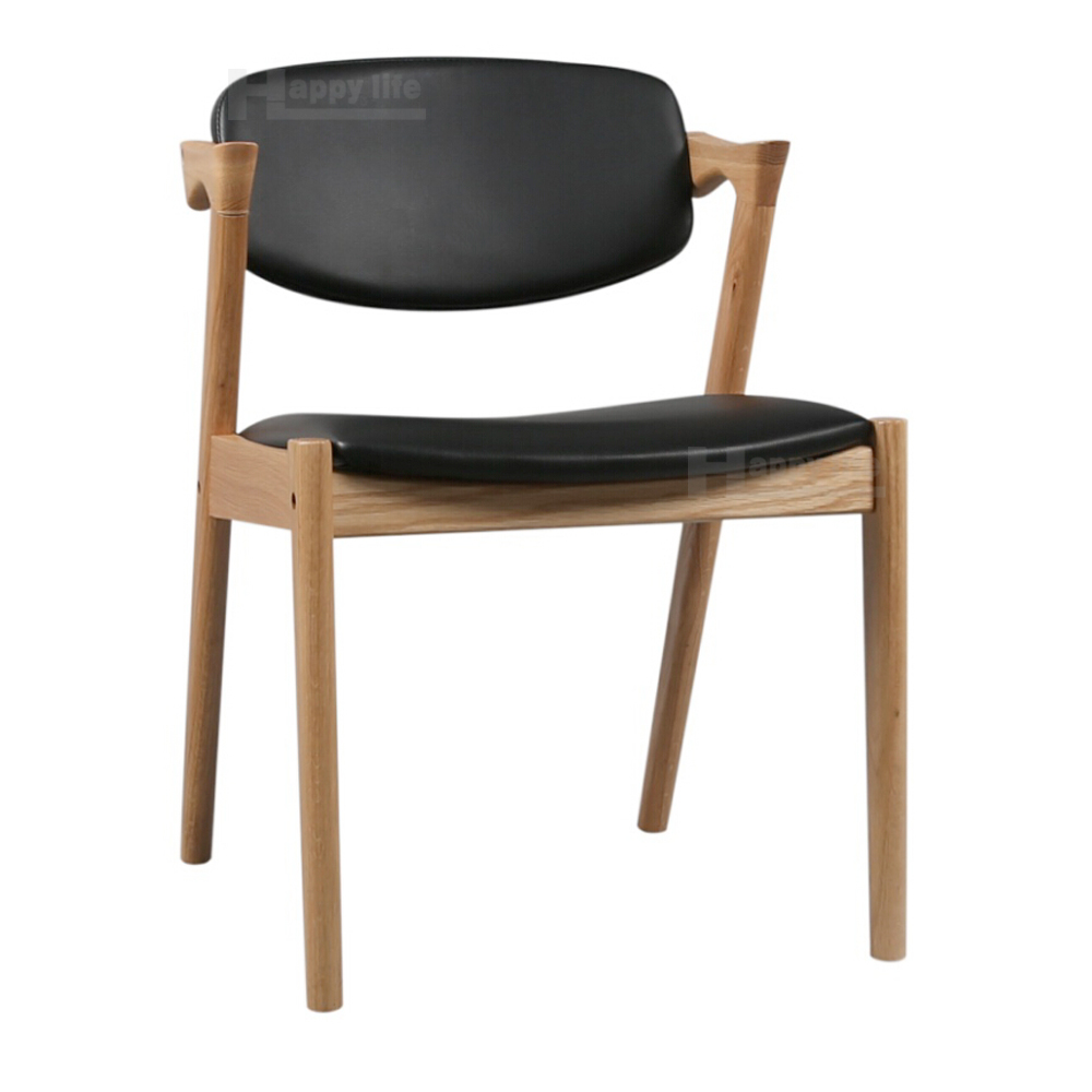 2016 wooden restaurant black leather dining modern z chair