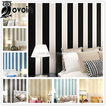 Modern Vertical Stripe Wallpaper Plain Wall Papers Home Decor Living Room Part 70