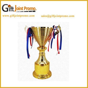 Promotional gloden Metal Awards Trophy Cups