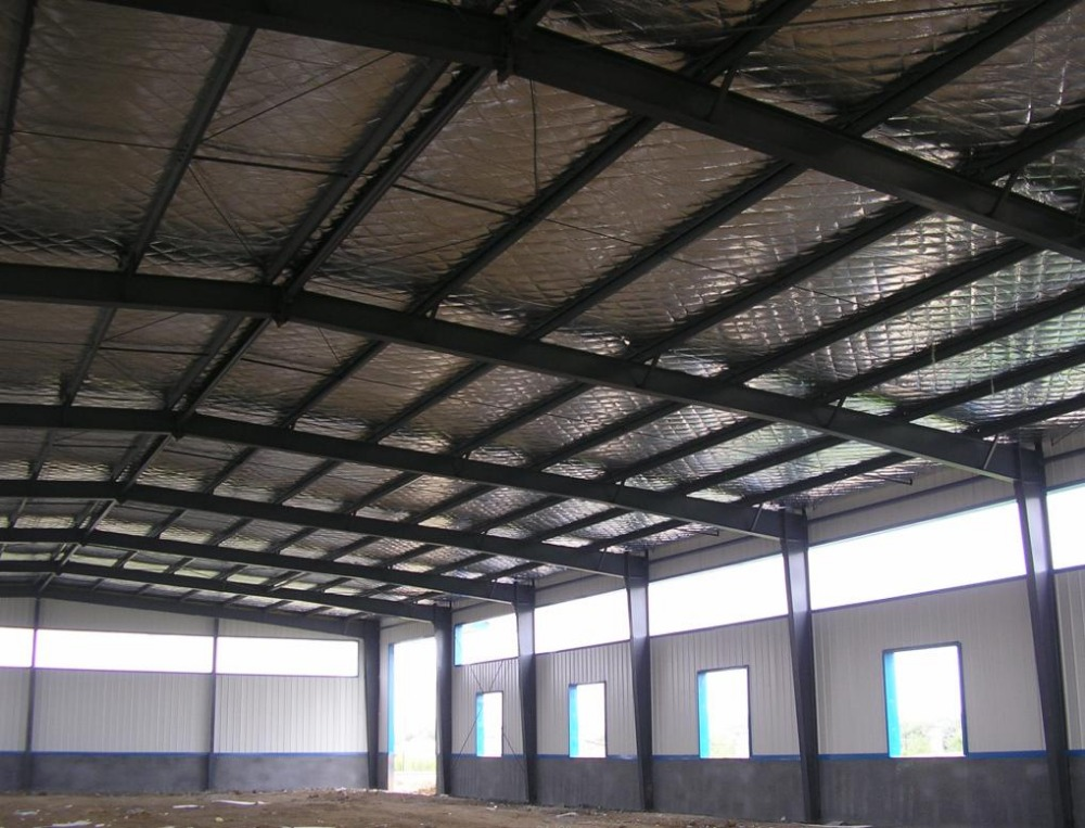 light steel structure prefabricated rice warehouse building