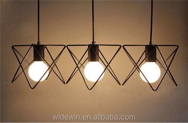 Plafoniera Ferro Battuto Nero : Stile moderno tre dimensionale plafoniera lampada di ferro battuto