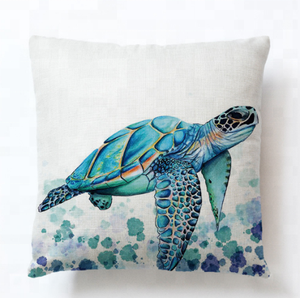 Full color turtles printed living room decoration sofa pillow