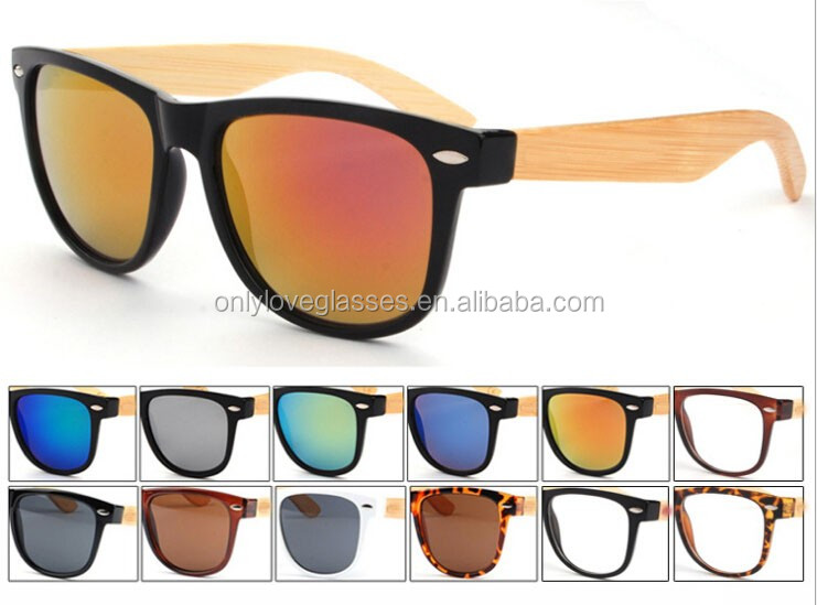 2016 custom new style hot sale promotion wholesale cheap bamboo wood sunglasses