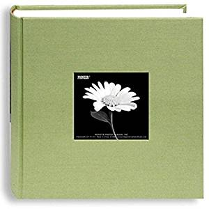 "Pioneer Cloth Photo Album W/Frame 9""""X9"""", holds up to 200 4x6 inch photos."