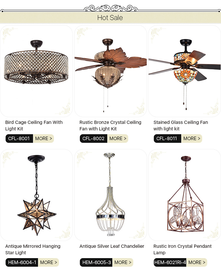 Fabriek Prijs Groothandel Moderne Stijl Decoratieve Crystal Hedendaagse Emergency Plafond Ventilator met UL