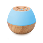 Home Wooden Grain Round 7 Color Led Light 300ml Ultrasonic Aroma Diffuser