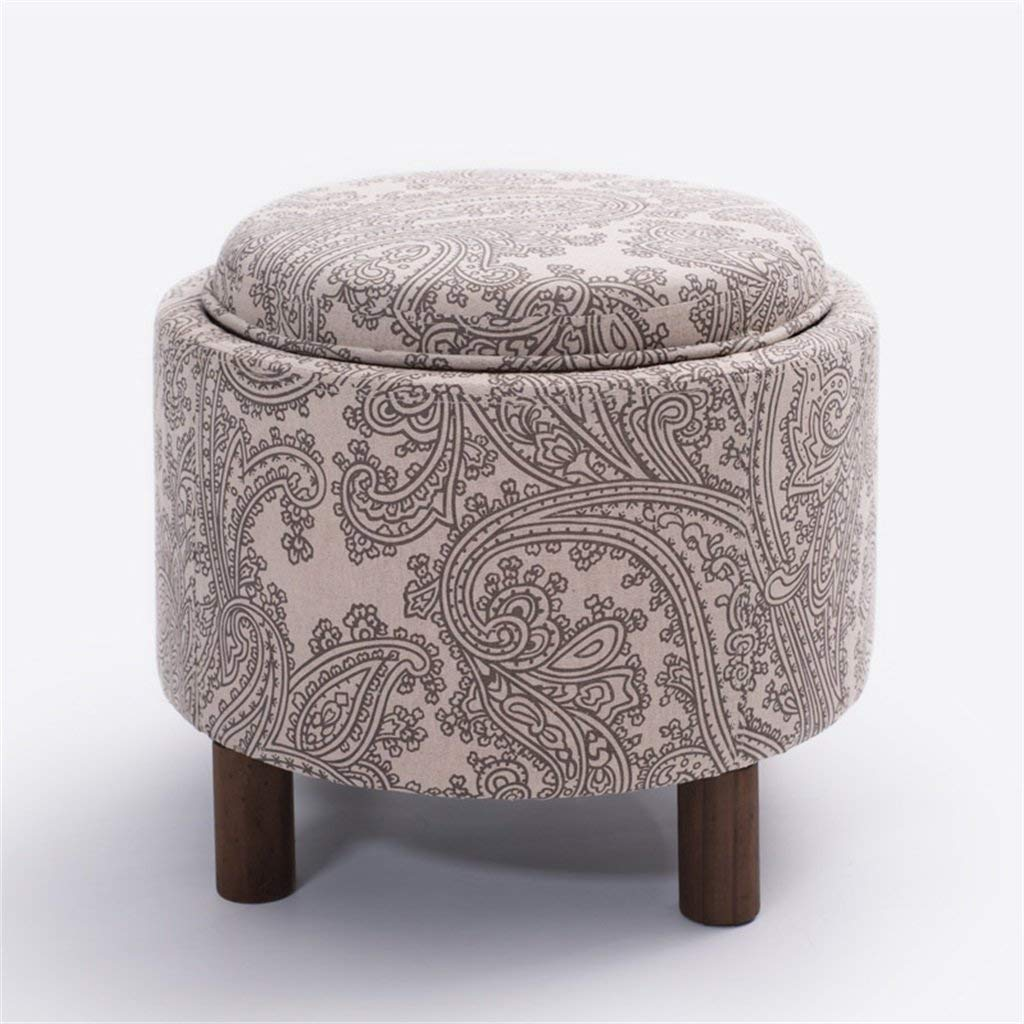 LQQGXL European chair Stool wooden storage sofa stool coffee table stool shoes shoes storage stool multifunctional bed stool (Color : C)