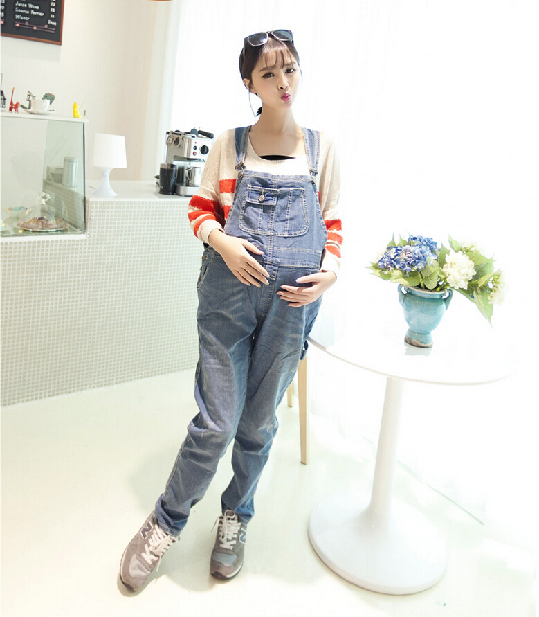 03502a3a0cf9 Get Quotations · Pregnant Womens Plus Size Denim Overalls Maternity Overalls  Loose Fashion Casual Pregnancy Bib Pants D949