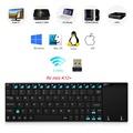 New Version Rii mini K12 Plus Original Ultra slim Aluminium Rii K12 Qwerty Touchpad Wireless Keyboard