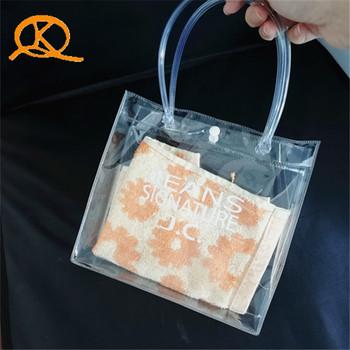 Zipper Top Sealing Handled Clear Pvc