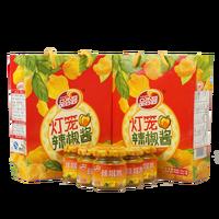 six pack yellow lantern chili sauce
