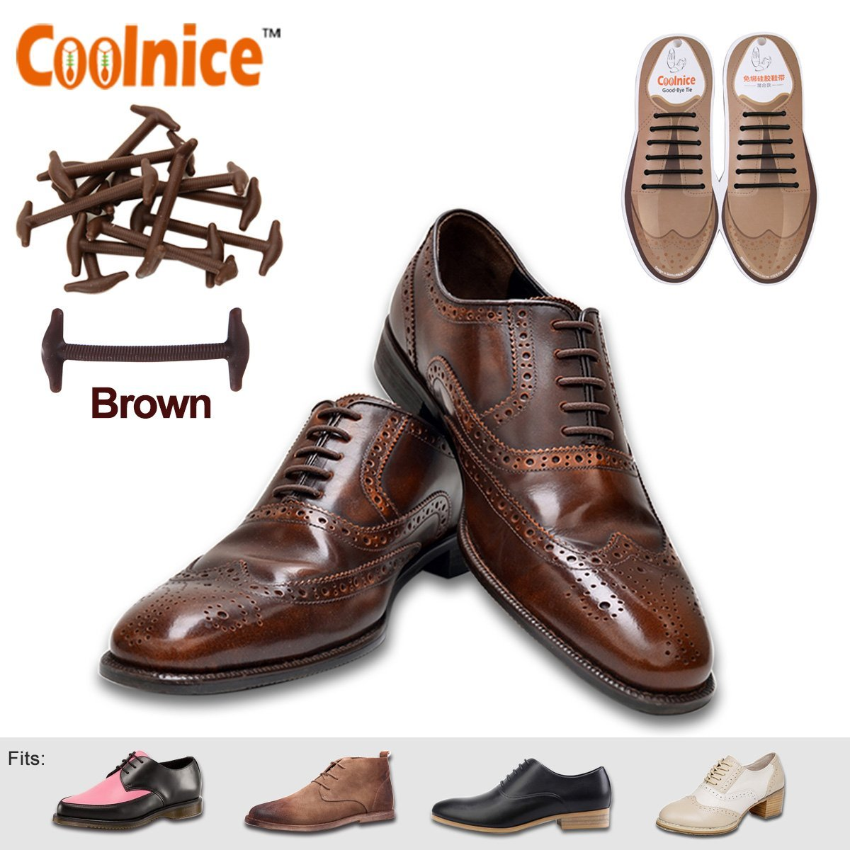 0ad00cdd89995e Get Quotations · Elastic No Tie Shoe Laces for Business Men and Women
