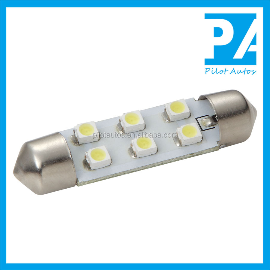 Wholesale Car Auto Door License plate Tail lamp Reading Led light Festoon C5W B22 E27 31mm 36mm 39mm 41 3528 6 8 9 12 16SMD AC12