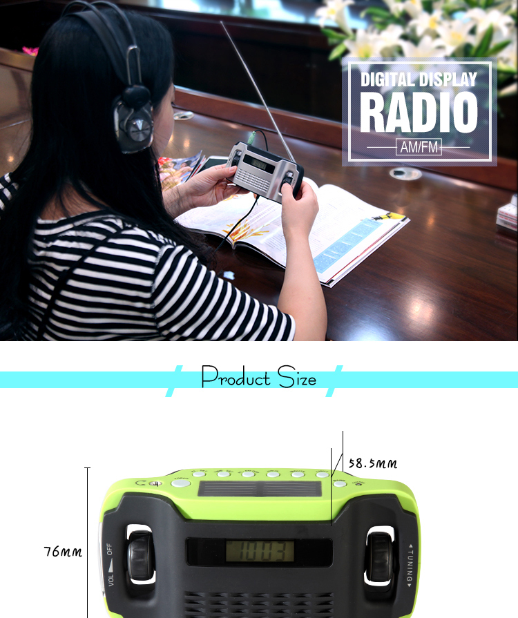 Re-wind Eco Friendly Solar Powered Portable Wind Up Lantern / Fm ...