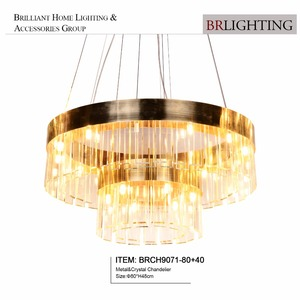 Crystal led light china zhongshan supplier for villa home decoration led chandelier and pendent lights