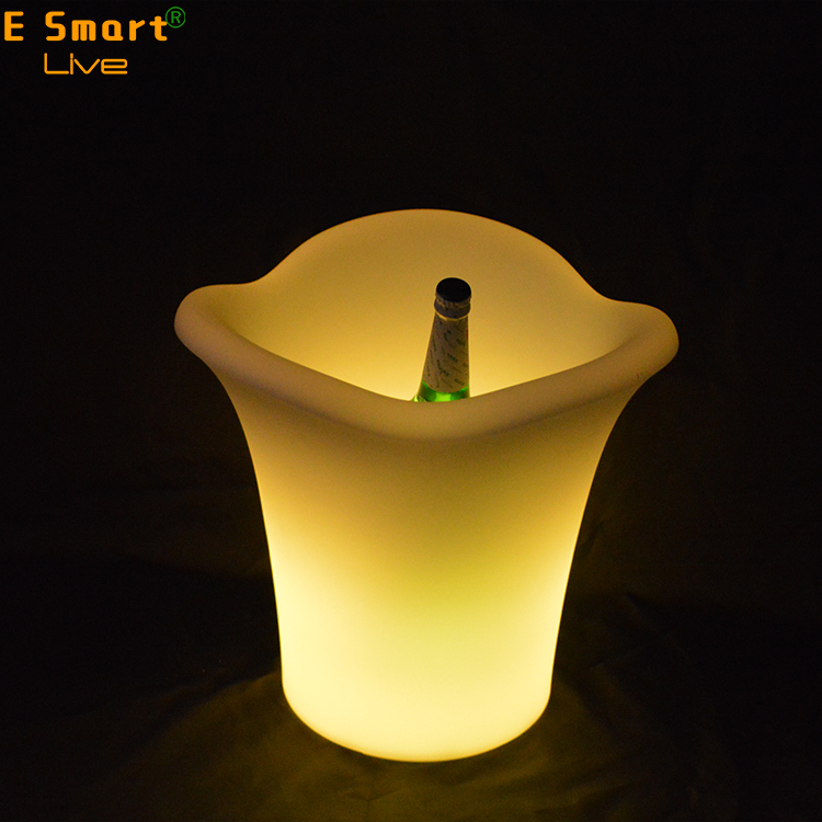Illuminated LED light Flower Planter Pot/Waterproof LED Ice Bucket For KTV/Bar