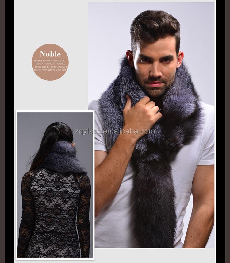 2015 La nouvelle mode véritable fourrure de renard écharpe pour homme ... 9f520b71b20