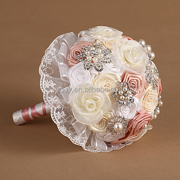 Rococo Style Satin Rose Artificial Flower Bouquet/ Wedding Bouquet ...