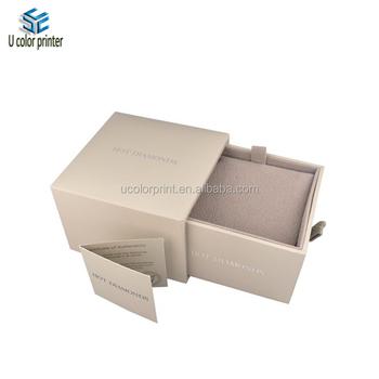 Square Hard Drawer Box For Bracelet Necklace With Velvet Insert