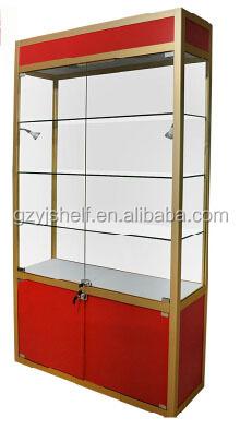 Lockable Glass Key Cabinet With Sliding Door, Glass Window Display Showcase