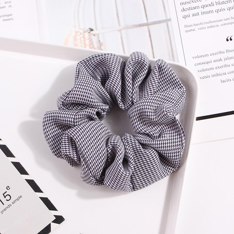 Amazon hot sale 2019 korea ribbon good quality elastic hair scrunchies for female custom scrunchie hair ties