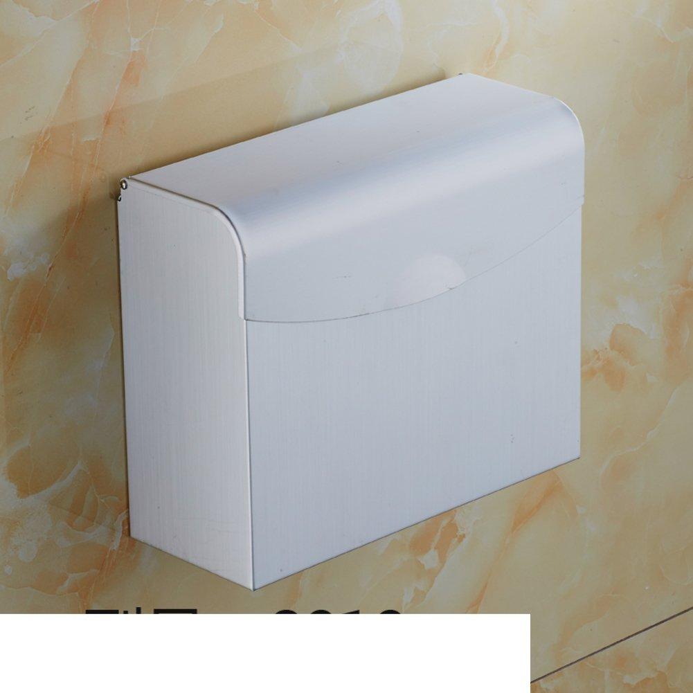 MOMO Space Aluminum Toilet Paper Box/Seamless Perforated Paper Towel Rack/Toilet Toilet Toilet Paper Box/Waterproof Toilet Paper Box-E