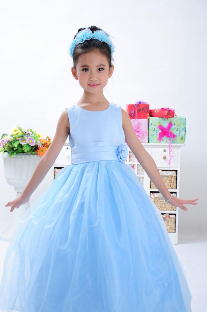 Boda de los bebés princesa del vestido Formal larga tutú de la falda ...