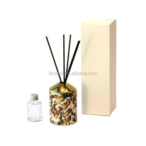 2018 New Arrival Ceramic Luxury Reed Aroma Diffuser Bottle 100ml Set