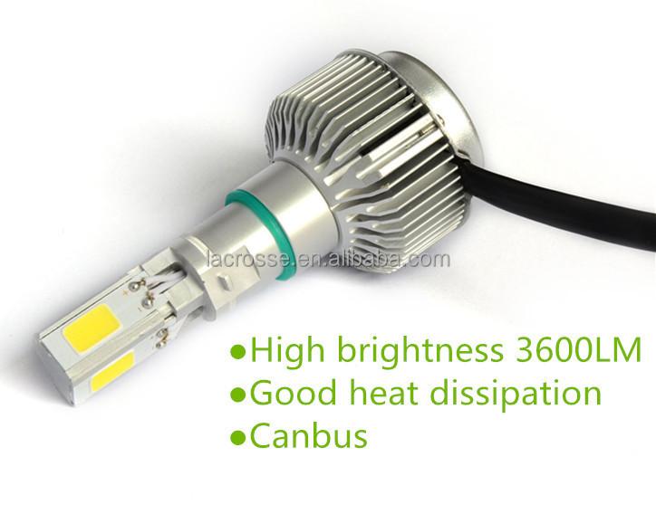 40 Watt 3600lm Ip68 H4 Cob Led Car Headlight Bulbs / Led Auto Head ...