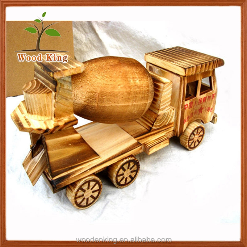 Cement Mixers Tank Children'S Wholesale Model Promotional Plush Wooden Toy Truck Custom Logo
