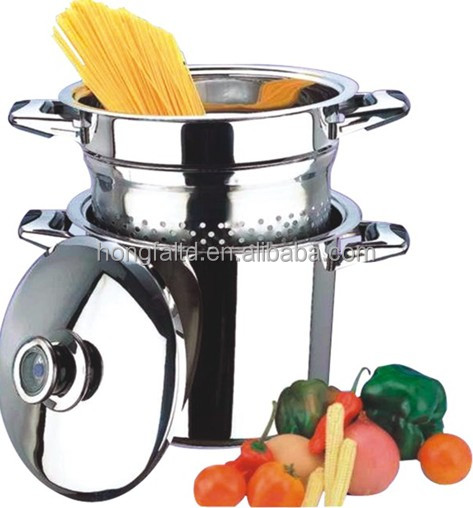 S/S cookware of pasta pot