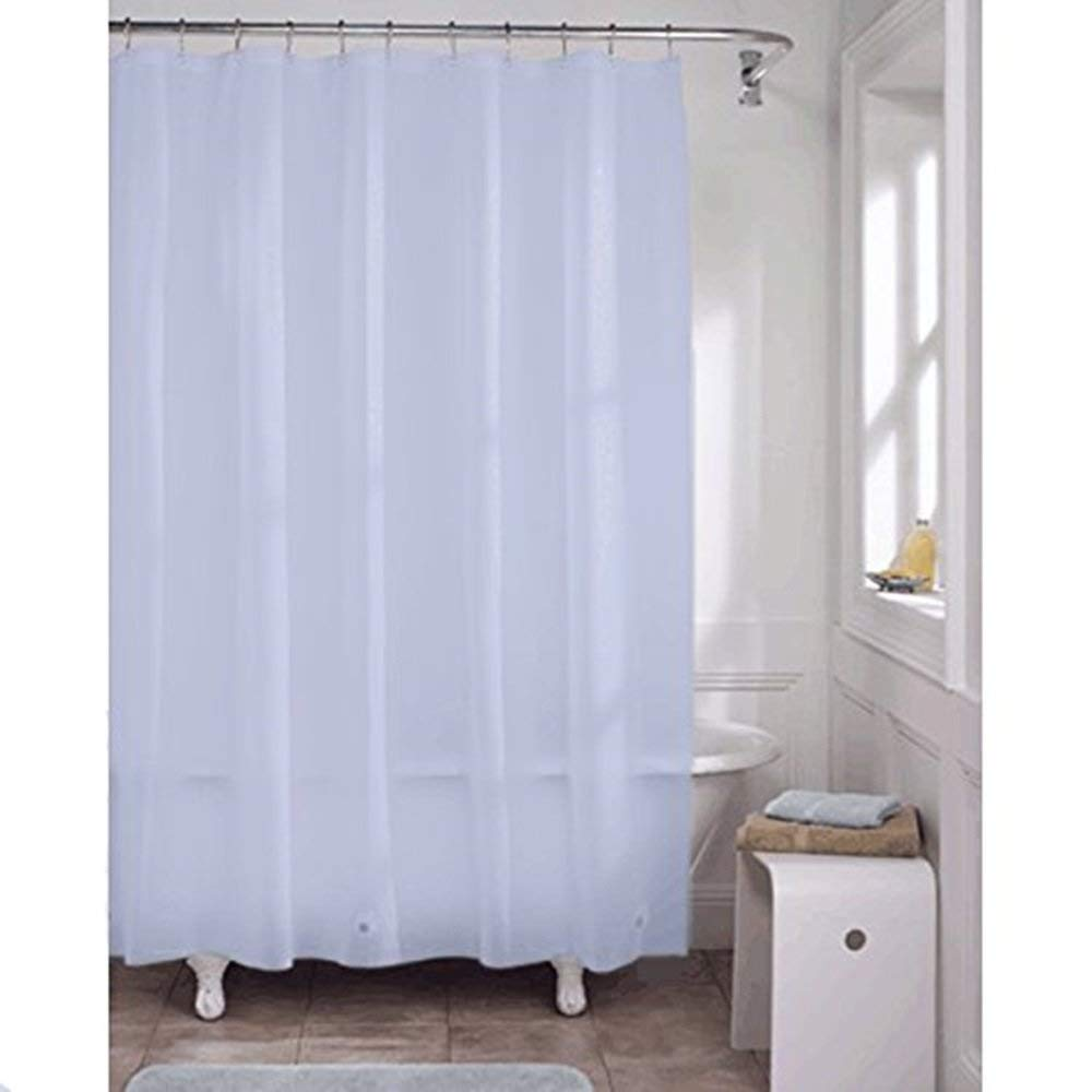 "Bed Bath Outlet Premium PVC Shower Liner 70"" X 72"" Inches Features A Grommet Top And Magnets (BLUE)"