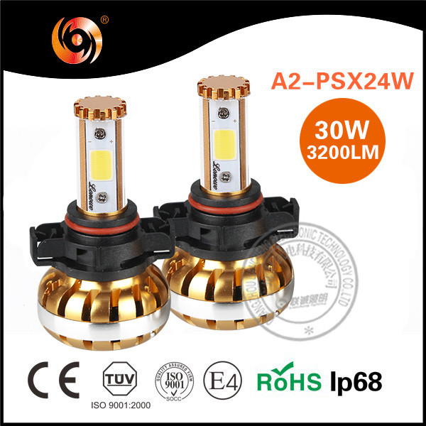Manufacture High Quality 30W 3900LM Cob Chip IP68 PSX24W Car Fog Lights DR Kim Headlight