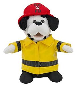 Cuddle Barn Animated Plush Firefighter Dalmatian Dog Toy - Sparky (CB7833) by Cuddle Barn