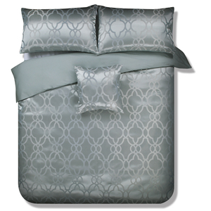 Gray jacquard duvet cover for bedding sets luxury circle pattern