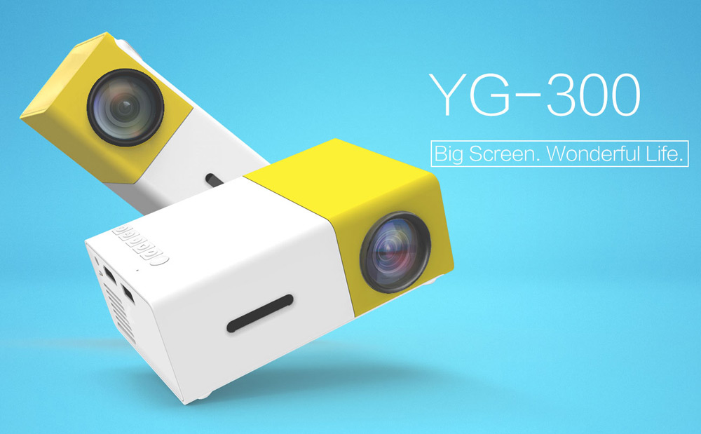 YG300 YG310 LED Portable <strong>Projector</strong> 400-600LM 3.5mm Audio 320 x 240 Pixels YG-300 HDMI USB Mini <strong>Projector</strong> Home Media Player