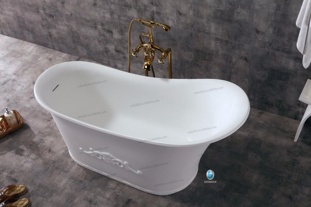 K16B High Heeled Shoe Shaped White Solid Surface Bathtub French Bathtubs