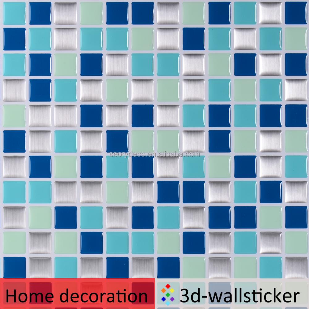 d de cristal como despegar y pegar azulejos para cubrir la pared rugosa