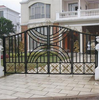 Wrought Iron Gate Home Decoration Cast Forging Door Flat Opening Interior Bell