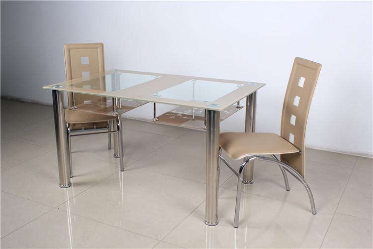 bonita pintura muebles mesa comedor de vidrio utilizado para comedor