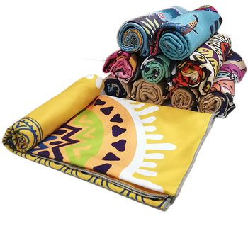 Quick Dry Promotional Oversized Large Microfiber Chamois Printed Beach Towel