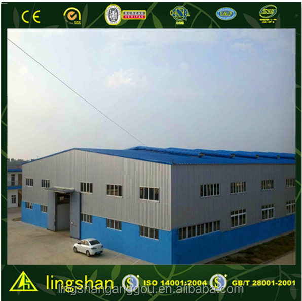 Lingshan high quality cement plant steel structure workshop/steel plants for greenhouses/steel billet plant